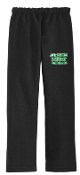 Alex Kennedy Open Bottom Black and Sport Gray sweatpants G18400