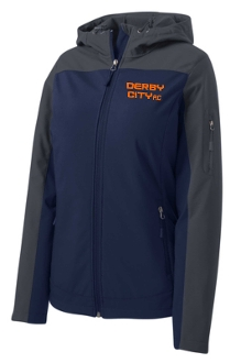 Derby City AC LADIES Hooded soft shell Jacket L335