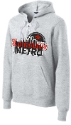 Louisville Metro High School Hockey Lace Heather Hoodie ST271