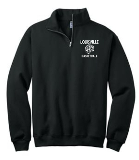 Louisville Tigers Basketball Black 1/4 zip sweatshirt 995M
