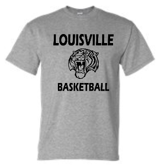 Louisville Tigers Basketball Sport gray T shirt G8000