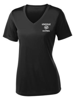 Louisville Tigers Basketball Ladies V Neck Black jersey LST353