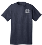 Buechel Fire EMS Support Team Heather Navy Tshirt  PC54