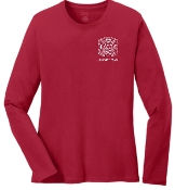 Buechel Fire EMS Support Team LADIES Red long slv LPC54LS