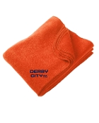 Derby City AC  Orange Embroidered Fleece stadium blanket M999