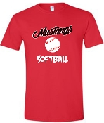 St Margaret Mary Softball Red tshirt G5000