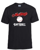 St Margaret Mary Softball Black tshirt  G5000