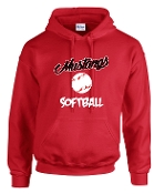 St Margaret Mary Softball Red Hoodie G185