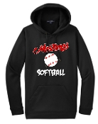 St Margaret Mary Softball Black Hoodie G185