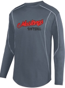 St Margaret Mary Softball Charcoal fleece pullover Aug 5542