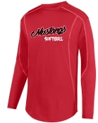 St Margaret Mary Softball Red fleece pullover Aug 5542