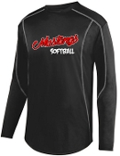 St Margaret Mary Softball Black fleece pullover Aug 5542