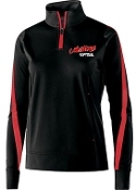 St Margaret Mary Softball Black/Red Ladies 1/4 zip Aug 229392