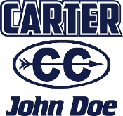 Carter Cross Country car decal with runner name included