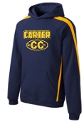 Carter Cross Country YOUTH Sleeve stripe hooded sweatshirtYST265