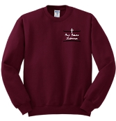 OSLS embroidered maroon school sweatshirt 562