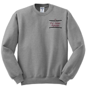 OSLS embroidered Athletic Heather gray school sweatshirt 562