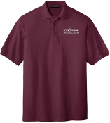 OSLS embroidered maroon school polo K500