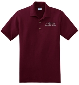 OSLS embroidered maroon school polo 8800