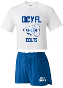 OCYFL Colts Cheer pack shirt and shorts G8000/988