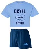 OCYFL Titans Cheer pack shirt and shorts G8000/988