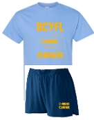 OCYFL Chargers Cheer pack shirt and shorts G8000/988