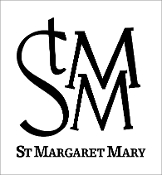 St Margaret Mary car decal with school logo only