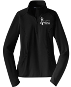 Milestone Wellness Ladies 1/2 zip  pullover LST850