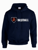 Sun Devils Baseball Navy Blue Hooded sweatshirt G185