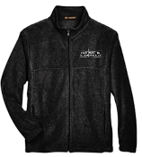 OSLS adult sized Black embroidered fleece full zip front M990