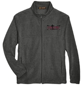 OSLS adult sized Charcoal Gray embroidered fleece full zip M990