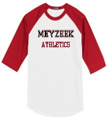 Meyzeek Athletics Baseball style 3/4 sleeve t-shirt T200