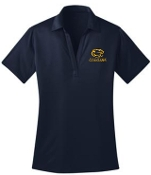 St Francis WOMENS Navy Moisture wicking polo L540