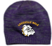 Louisville Male Alumni Purple Charcoal DT620 embroidered beanie