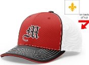 Meyzeek Baseball Red Black white Richardson hat 172