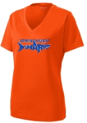 Springhurst Sharks Womens moisture wicking V Neck  LST340