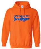 Springhurst Sharks Orange Hooded sweatshirt G18500