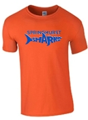 Springhurst Sharks Orange 100% cotton Soft style T shirt 64000