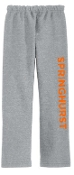Springhurst Sharks Sport Gray Open Bottom sweatpants G184
