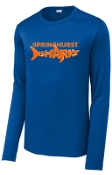Springhurst Sharks Wicking Long sleeve Royal T-shirt ST420LS