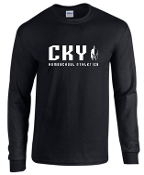 CKY Cross Country spirit Black Long Sleeve cotton Tshirt G5400