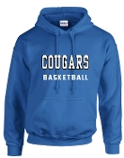CEC Basketball Royal Blue Hooded sweatshirt G185