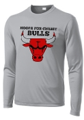 Hoops For Christ Basketball Bulls Long Sleeve wicking T PC380LS