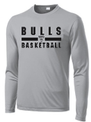Hoops For Christ Basketball words Long Sleeve wicking T PC380LS
